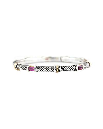 Andrea Candela Pavo Real 18K & Silver Rhodolite Bracelet