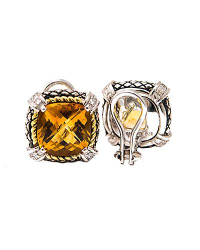 Andrea Candela Fleur de Lis 18K & Silver 0.23 ct. tw. Diamond Bracelet
