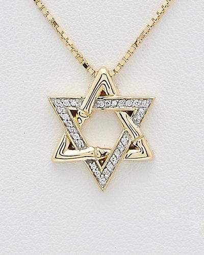 John Hardy Bamboo 18K 0.13 ct. tw. Diamond Star of David Necklace