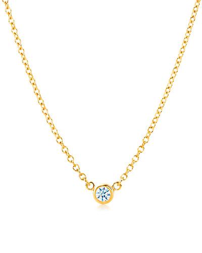 Suzy Levian 14K 0.15 ct. Diamond Solitaire Necklace