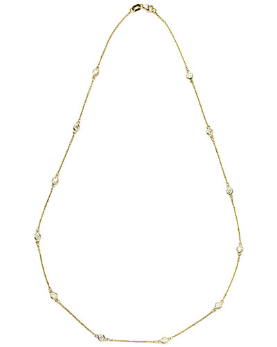 Suzy Levian 14K 0.40 ct. tw. Diamond Station Necklace
