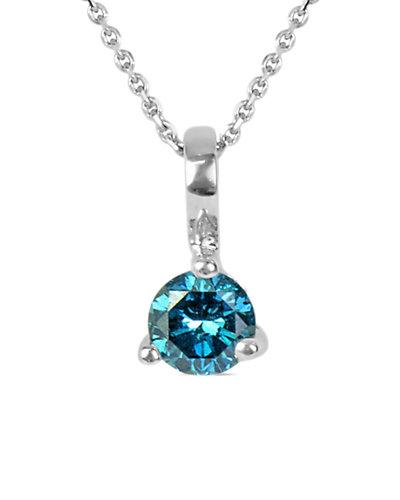 Suzy Levian 14K 0.22 ct. Diamond Solitaire Necklace