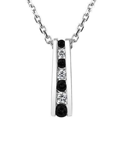 Suzy Levian 14K 0.25 ct. tw. Diamond Graduated Necklace