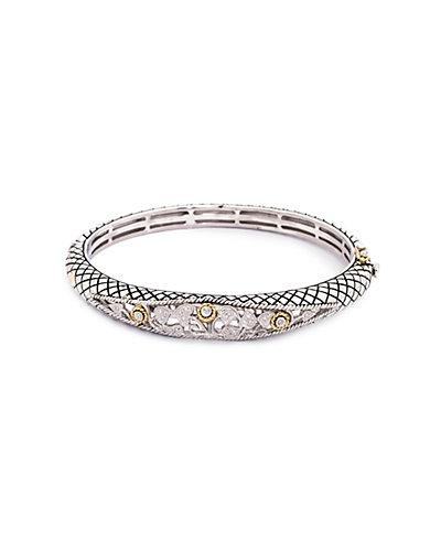 Andrea Candela Tesoro 18K & Silver Diamond Filigree Bracelet
