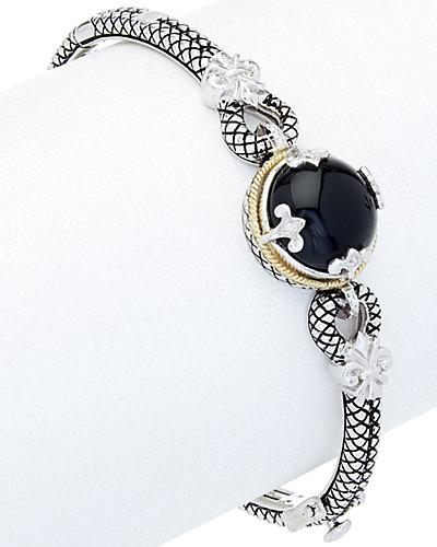 Andrea Candela Trebol 18K & Silver Diamond & Onyx Bracelet