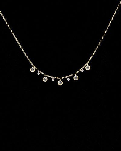 Meira T 14K 1.35 ct. tw. Diamond & Topaz Necklace