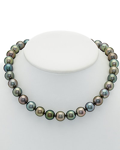 TARA Pearls 18K Diamond & 12.5-13.1mm Tahitian Pearl Necklace