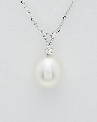 TARA Pearls 14K Diamond & 9-10mm South Sea Pearl Necklace