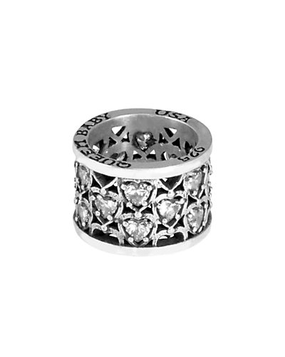 King Baby Studio Silver CZ Heart Ring