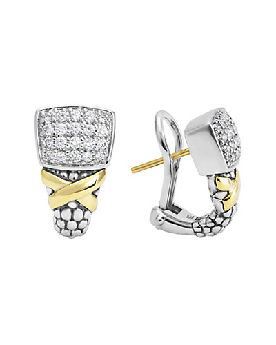 LAGOS Diamond Lux 18K & Silver 0.49 ct. tw. Diamond Earrings