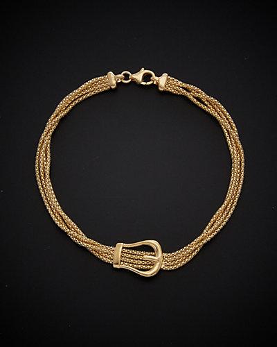 18K Italian Gold Buckle Bracelet