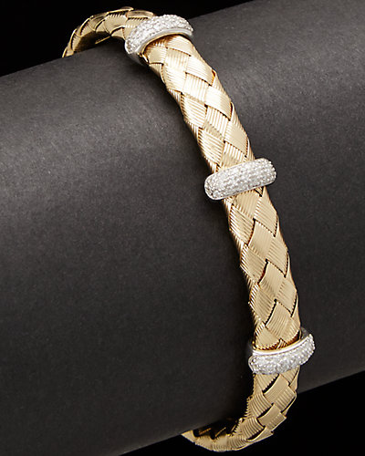 Meshmerize 14K 0.80 ct. tw. Diamond Bar Bracelet