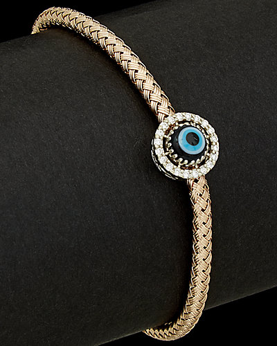 Meshmerise 14K Rose Gold 0.15 ct. tw. Diamond Evil Eye Bracelet
