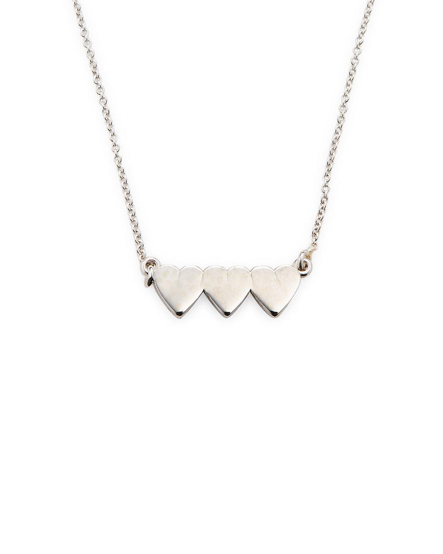 bfb9bdd12718a3 Jennifer Meyer Jewelry 18K White Gold Mini Heart Bar Necklace ...