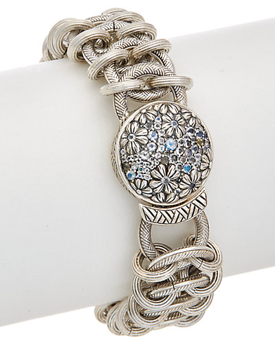 Stephen Dweck Core Silver Rainbow White Moonstone Bracelet by Stephen Dweck